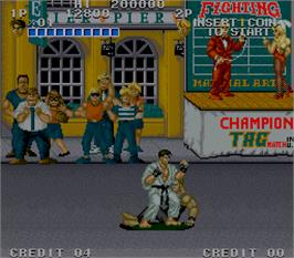 In game image of Street Smart on the Arcade.