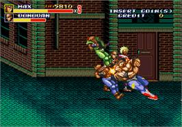 In game image of Streets of Rage II on the Arcade.