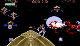In game image of Strider on the Arcade.