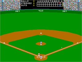In game image of Strike Zone Baseball on the Arcade.