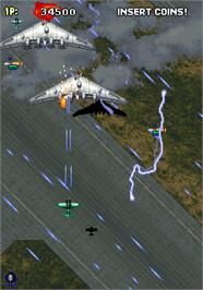 In game image of Strikers 1945 on the Arcade.