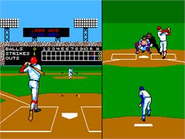In game image of Super Baseball Double Play Home Run Derby on the Arcade.