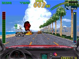 In game image of Super Chase - Criminal Termination on the Arcade.