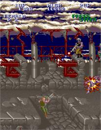 In game image of Super Contra on the Arcade.