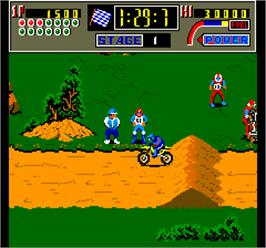 In game image of Super Cross II on the Arcade.