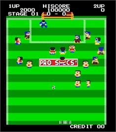 In game image of Super Free Kick on the Arcade.