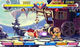 In game image of Super Gem Fighter Mini Mix on the Arcade.