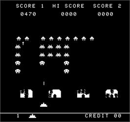 In game image of Super Invader Attack on the Arcade.