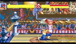 In game image of Super Muscle Bomber: The International Blowout on the Arcade.