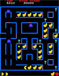 In game image of Super Pac-Man on the Arcade.