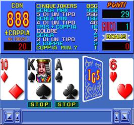 In game image of Super Poker on the Arcade.
