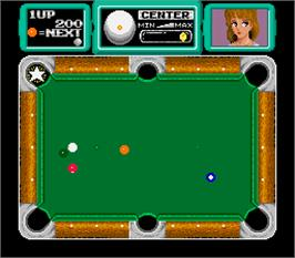 In game image of Super Pool III on the Arcade.