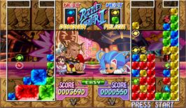 In game image of Super Puzzle Fighter II Turbo on the Arcade.