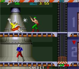 In game image of Super Ranger on the Arcade.
