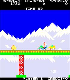 In game image of Super Rider on the Arcade.