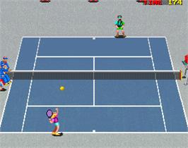 In game image of Super Slam on the Arcade.