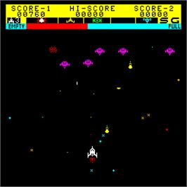 In game image of Super Star Battle on the Arcade.