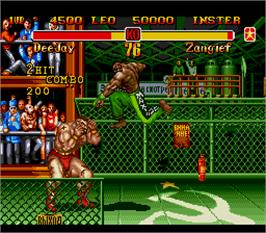 In game image of Super Street Fighter II - The New Challengers on the Arcade.
