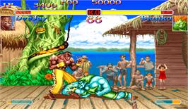In game image of Super Street Fighter II X: Grand Master Challenge on the Arcade.
