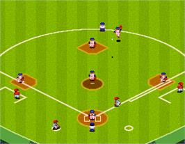 In game image of Super World Stadium '92 on the Arcade.