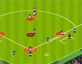 In game image of Super World Stadium '93 on the Arcade.