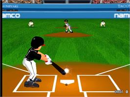 In game image of Super World Stadium '98 on the Arcade.