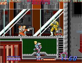 In game image of Surprise Attack on the Arcade.