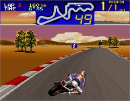 In game image of Suzuka 8 Hours on the Arcade.