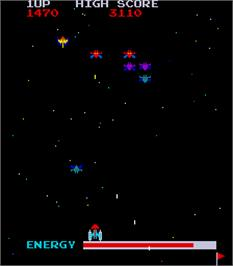 In game image of Swarm on the Arcade.