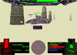 In game image of T-MEK on the Arcade.