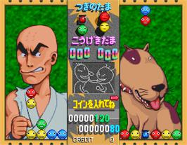 In game image of Taisen Puzzle-dama on the Arcade.