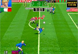 In game image of Taito Cup Finals on the Arcade.