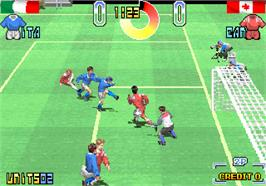 In game image of Taito Power Goal on the Arcade.