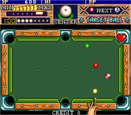 In game image of Target Ball on the Arcade.