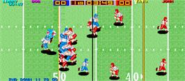 In game image of Tecmo Bowl on the Arcade.