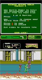 In game image of Teenage Mutant Ninja Turtles II: The Arcade Game on the Arcade.