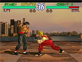 In game image of Tekken 2 on the Arcade.