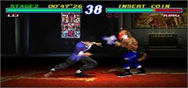 In game image of Tekken 2 Ver.B on the Arcade.