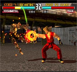 In game image of Tekken 3 on the Arcade.