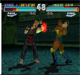 In game image of Tekken Tag Tournament on the Arcade.