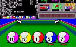 In game image of Ten Balls on the Arcade.