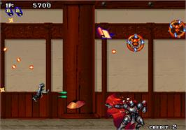 In game image of Tengai on the Arcade.