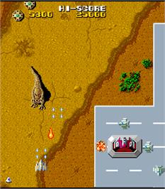 In game image of Terra Cresta on the Arcade.