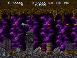 In game image of Terra Force on the Arcade.
