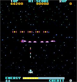In game image of The Alphax Z on the Arcade.