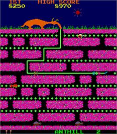 In game image of The Anteater on the Arcade.