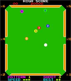 In game image of The Billiards on the Arcade.