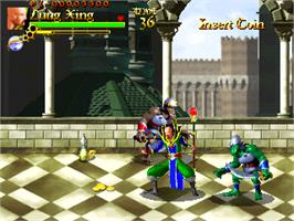 In game image of The Crystal of Kings on the Arcade.