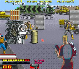 In game image of The Double Dynamites on the Arcade.
