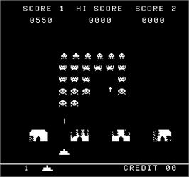 In game image of The Invaders on the Arcade.